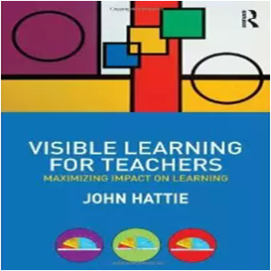 """Le livre """"Visible Learning for Teachers"""" est disponible sur Amazon au prix de 28,40€ (Livre en anglais)"""