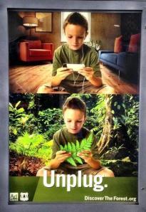 Publicité du site discovertheforest.org, qui invite les enfants à partir à la découverte de la nature