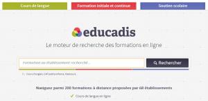 Page d'accueil du moteur de recherche educadis.fr