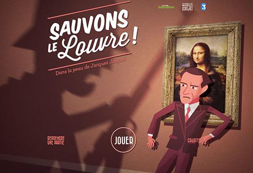 """""""sauvons le louvre"""", le prochain serious game de france télévisions"""