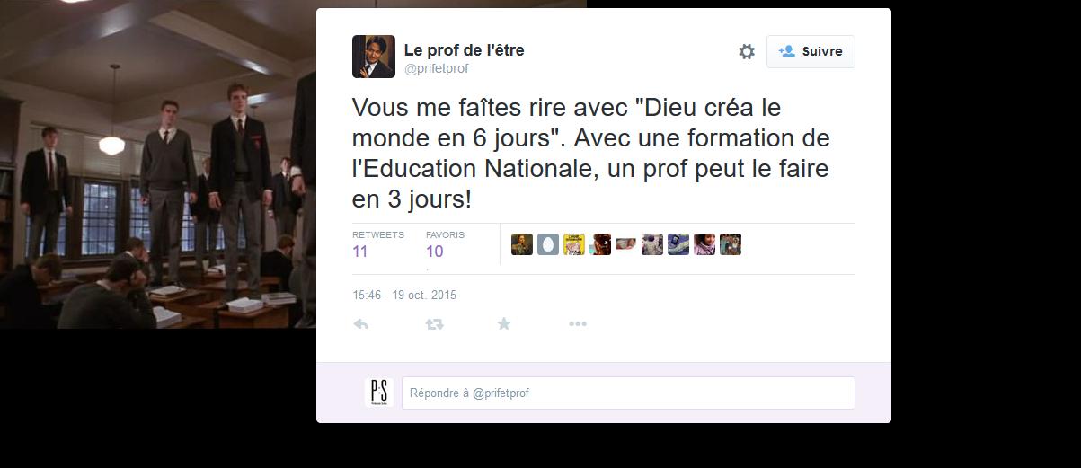#éducation : le tweet du jour (19/10/2015)
