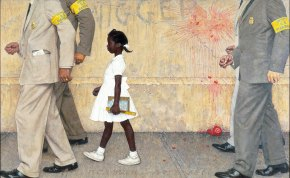 """The problem we all live with"" de Norman Rockwell, 1963-1964 (Norman Rockwell Museum)"
